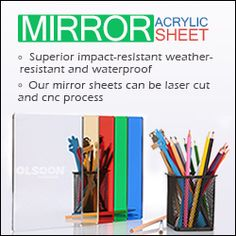 Acrylic Mirror Sheets, Extruded Plexiglass Sheets, Perspex Rods & Tubes Manufacturers - Olsoon Materials Co. Plastic Mirror Sheets, Plexiglass Sheets, Acrylic Mirror Sheet, Acrylic Sheets, Acrylic Material, Diy Projects To Try