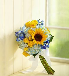 Petite Country Wedding Sunflower Mixed Bouquet