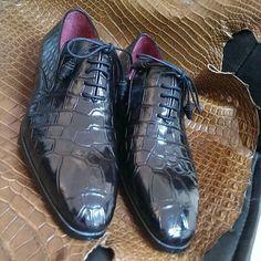 Paul Parkman Genuine Crocodile Oxfords #paulparkman #luxury #mensshoes #mensfashion www.paulparkman.com