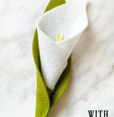 DIY Felt Flower Tutorial – Calla Lily