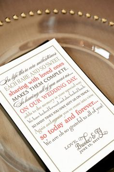 Printable Wedding Thank You Note for Guests  In by pompdesigns, $15.99