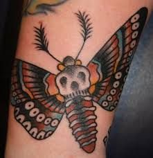 Bildresultat för death moth tattoo