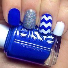 Royal Blue Nail Idea