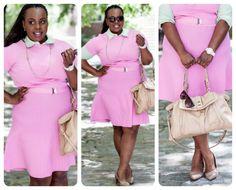 d8a453e0be Plus Size Work Clothes  Ralph Lauren Pink Dress - CeCe Olisa