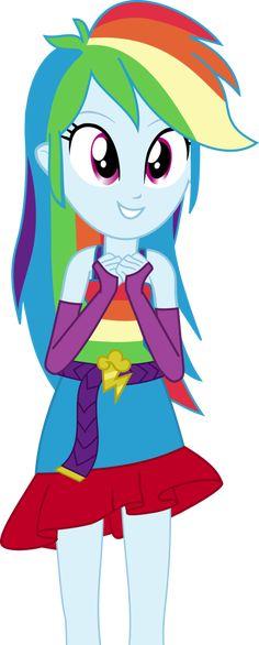 Rainbow Dash excited (equestria girl) by DarkSoul46 on DeviantArt
