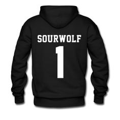 "lol ""don't be such a sourwolf "" ""SOURWOLF 1"" - Hoodie (XL Logo, NBL) 