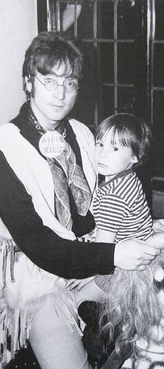 ♡♥John with his first son Julian Lennon - click on pic to see a larger pic♥♡
