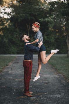 Vintage Engagement Photo