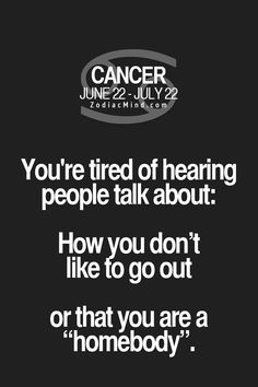 Yeah... It's really annoying and BTW I CANT SLEEP THE THING ABOUT CANCERS CANT SLEEP IS REAL