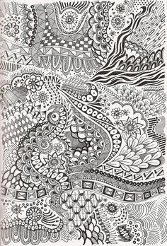 Great all over zentangle