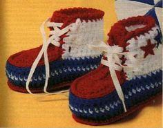 Retro Basketball Baby Sneakers Crochet  pattern on Craftsy.com