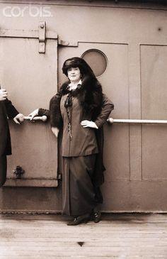 04 Oct 1914 --- Lady Duff-Gordon, Titanic Survivor, and clothing designer known as Lucille --- Image by © Bettmann/CORBIS