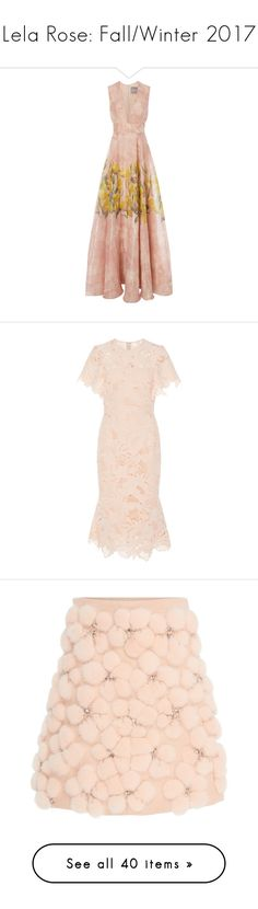 """Lela Rose: Fall/Winter 2017"" by livnd ❤ liked on Polyvore featuring LelaRose, fallwinter2017, livndfashion, livndlelarose, dresses, print, floral pattern dress, wet look dress, floral dresses and print dresses"