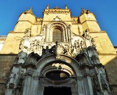 Fachada da Igreja de Santa Cruz, Coimbra, Portugal