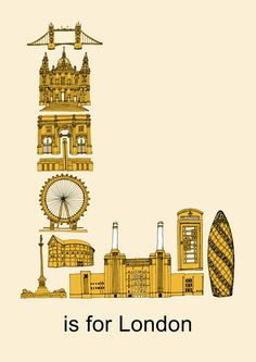 L is for London Print by janicej on Etsy