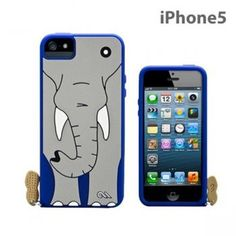Case Mate iPhone 5, 5s 5c Case Creatures Elephant Blue/Gray Peanut Charm NEW! #CaseMate