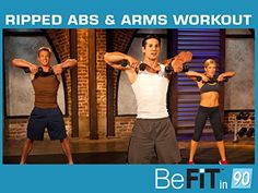 Ripped Abs & Arms Workout by BeFit in 90 *** For more information, visit image link.