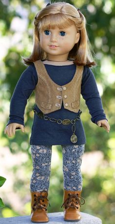 American Girl Doll Clothes Tunic Top Suede by DollClosetHeirlooms