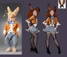 "Easy ""March Hare"" Alice In Wonderland costume!"