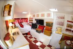 Inside of Lillian Lucille, 1973 Holiday Rambler.