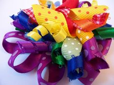 Rainbow Brights - boutique korker hairbow