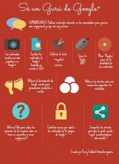 Cómo ser un gurú de Google + #infographic