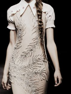 fern cream dress / can we make the sleeves less adorable plz? / Miu Miu Spring/Summer 2010