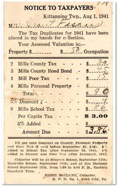An article  for GenealogyBank looking at taxes in the newspaper. Taxes: Not Fun to Pay, but Great Genealogy Records! #gentipjar #genealogy #taxes