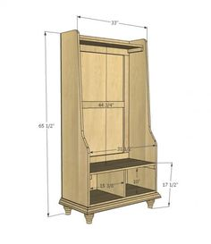 I want to make this!  DIY Furniture Plan from Ana-White.com  Build a rustic hall tree inspired by Pottery Barn Grant Hall Tree ! Free simple step by step plans feature detailed diagrams, cut list and shopping list. Everything you need to diy your own beautiful furniture!