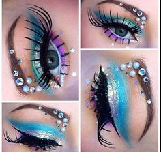 Halloween mermaid makeup :)                                                                                                                                                      Mais