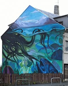 L'eau monte, la preuve par la pieuvre ! / Water is rising ! / Street art. / Reykjavik.