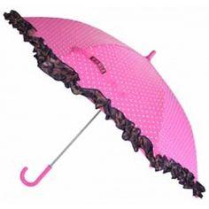Hippe roze paraplu van Zebra Trends!