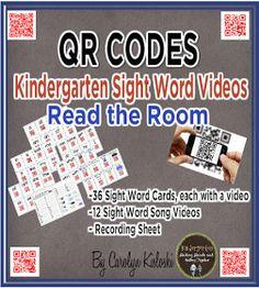 Kindergarten: Holding Hands and Sticking Together: QR Codes for Sight Words FREEBIE!