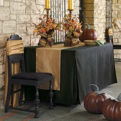 Fall table setting - Pleated Table Covers