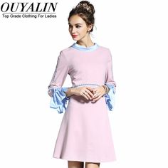 L- 5XL Autumn Winter Dress Ruffles In Sleeve Slim Fit Short Mini High Quality Pink What a beautiful image http://www.artifashion.net/product/l-5xl-autumn-winter-dress-ruffles-in-sleeve-slim-fit-short-mini-high-quality-pink/ #shop #beauty #Woman's fashion #Products