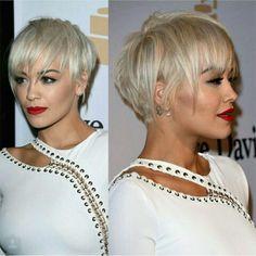 Short Hair Stunner #pixie #blonde #trendyhair