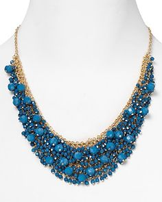 Cara Stone Cluster Necklace, 20"