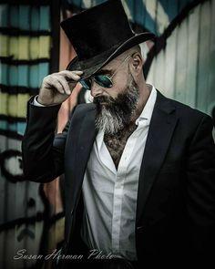Mens Fashion Hipster – The World of Mens Fashion Moustache, Beard No Mustache, Beard Styles For Men, Hair And Beard Styles, Moda Formal, Grey Beards, Beard Love, Beard Tattoo, Men's Grooming