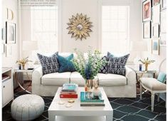 Neutral Living Room Blue Navy Pillows Gorgeous Accent Piece This