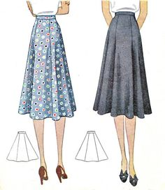 1930s Skirt Pattern McCall 3188 Day or Evening by paneenjerez, $20.00