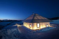 the Même Meadows, an experimental house for cold climates. It is based on the traditional Ainu home called a chise, and employs some pretty clever solutions for studying design responses in harsh climates.