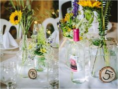 Bottle Wedding Centerpiece