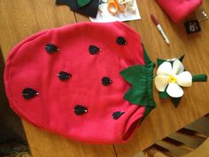 Strawberry costume for a little person i know