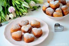 Pączki z Nutellą / Nutella Donuts Nutella Donuts, Doughnuts, Pretzel Bites, Red Velvet, Cupcakes, Bread, Pudding Chia, Food, Cupcake