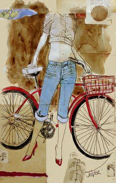 "Saatchi Art Artist Loui Jover; Drawing, ""spring ride"" #art"