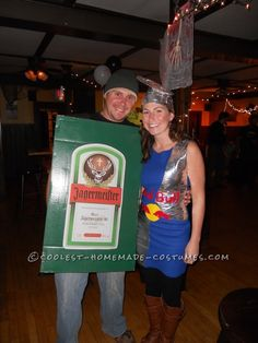 Best Jagerbomb Couple Halloween Costume... This website is the Pinterest of costumes