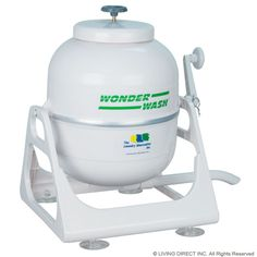 i can wash over 5 pounds of laundry, its portable, no electric to run it, fast & uses very little soap... great invention!
