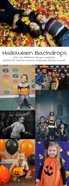 Halloween / Autumn / Fall Backdrops for photo mini session, parties, photo booths and more! Halloween Baby Pictures, Halloween Mini Session, Halloween Jack, Fall Pictures, Baby Halloween, Autumn Photos, Halloween 2018, Halloween Backdrop, Halloween Party Costumes
