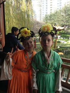 Chinese gardens!!! Ella and I
