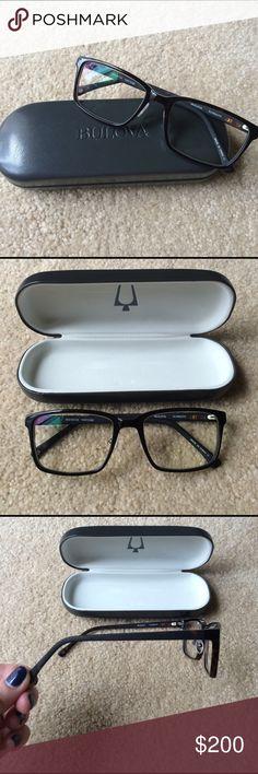 New Bulova Glasses Brand new, never worn Bulova prescription glasses. They come with Bulova case. These are authentic Bulova tortoise brown frames with +0.50 lenses. I got them and the prescription was off for me. Bulova Accessories Glasses
